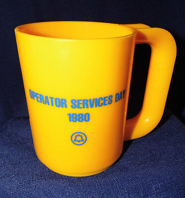 """Vintage Bell System """"operator Services Day""""  1980  Coffee Cup"""