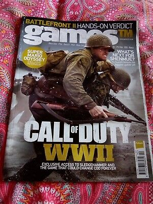 Games TM magazine. Issue 192. Call of duty ww2 cover
