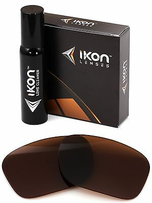 Polarized IKON Replacement Lenses For Oakley Mainlink Sunglasses - Brown