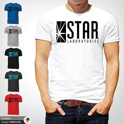 STAR Laboratories T Shirt Top The Flash S.T.A.R. Labs  GIFT T-SHIRTS White