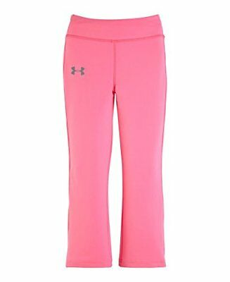 Under Armour Girls Yoga Pant All Season Gear Pink Youth Sweatpants Size 4