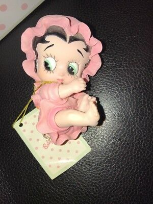 Betty Boop Baby Boop figurine rare retired 2002 pink bonnet blocks Westland gift
