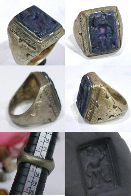 Lapis lazuli intaglio Stone Antique Wonderful Unique  Ring #z2
