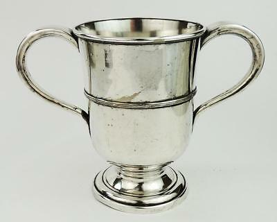 GEORGE III SILVER PLATED LOVING CUP c1800