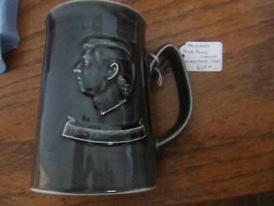 Holkham Pottery Dark Grey Prince Of Wales Investiture Caernarvon 1969 Tankard.