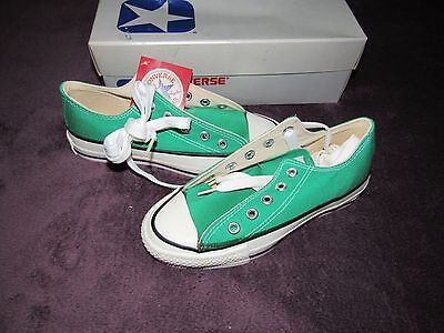 Nib Vintage Converse All Star Chuck Taylor Irish Spring Low 3 Made In Usa