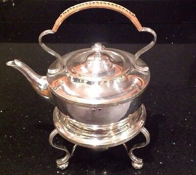 Edwardian Silver Plated Spirit Kettle By James Dixon Very Good Condition