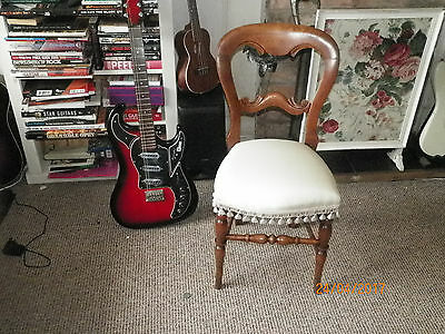 Fabulous Victorian Bedroom Chair-Upholstered Seat-Professionally Restored-Walnut