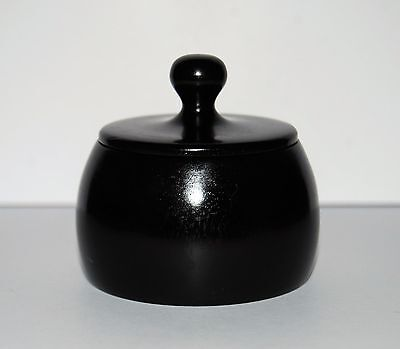 Small Edwardian Ebony Dressing Table Pot