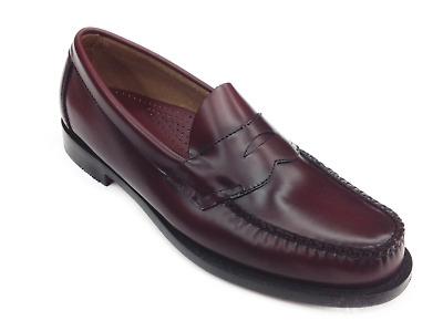 1c539ee8579 Men Weejuns G.H. Bass Leather Shoes Logan Burgundy Penny Loafer 70-10949