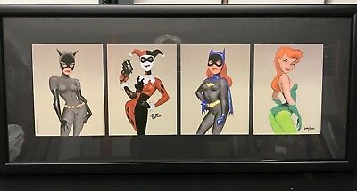 The Women Of Batman Signed Limited 4 Print Harley Quinn Batgirl Catwoman Ivy