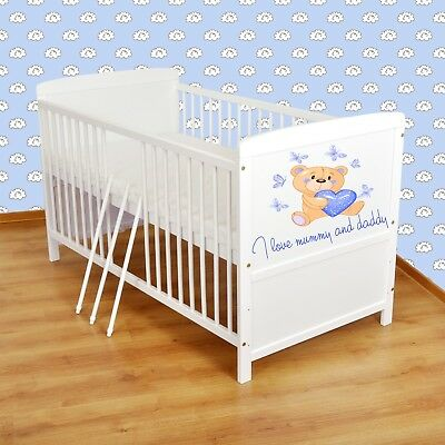 Wooden Baby Cot Bed&Foam Mattress ✔ Converts to Junior Bed - Real Bargain