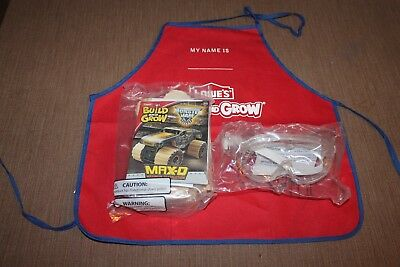 Lot Lowes Build and Grow Kit Monster Jam Max D with Goggles and Apron