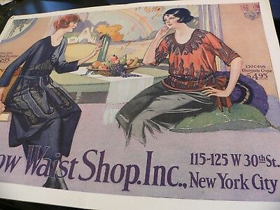 1920s Vintage Clothing Catalog Rainbow Waist Shop  NY