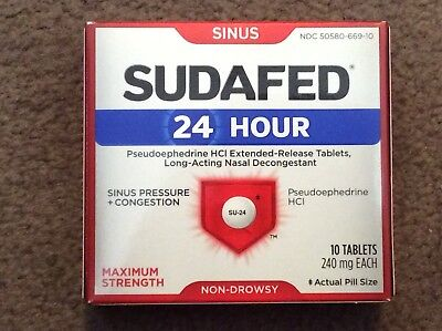 Sudafed Sinus Pressure And Congestion - All Day Relief - Box Of 10