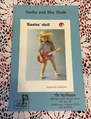 Sasha and Her Dolls an Information Booklet from The Toy Shoppe