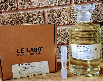 Le Labo Santal 33 'EDP' 4ml fragrance spray - 100% Genuine - Unisex - New STOCK!