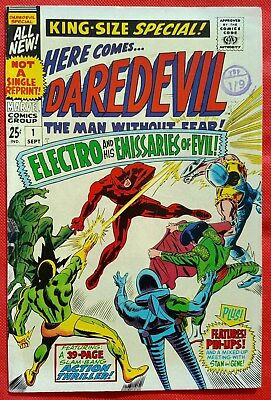 Daredevil 1 King-Size Marvel Silver Age 1966 Electro & His Emissaries Of Evil