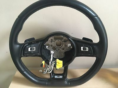 Vw Golf R Mk 7 Flat Bottom Steering Wheel Paddle Shift 2013 2014 2015 2016 Dsg