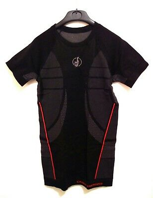 Carbon Energized S/ Sleeve Compression Motorcycle Base Layer Undershirt L/XL