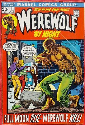 WEREWOLF BY NIGHT 1 Marvel 1972 Premiere Origin Issue