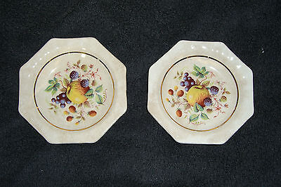 "Wade x 2 Small Hexagonal Dishes ""Fruit Pattern"""