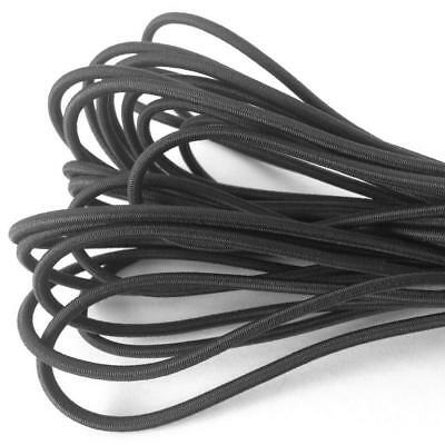 "54 yds 3mm 1/8"" Round ELASTIC CORD Black Bungee String Stretch"