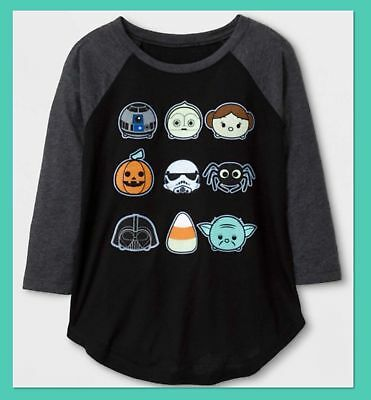 Girls Star Wars Glow In The Dark Long Sleeve Shirt New With Tags
