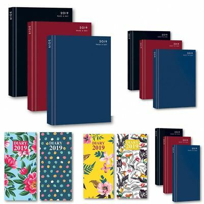 2019 Diary A4 / A5 / A6 Size Page A Day To View / Week To View Weekly Planners