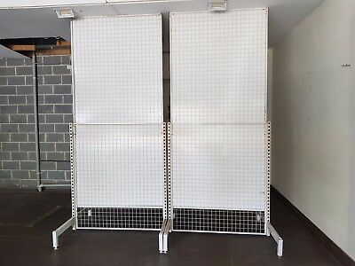 GRID WALL PANELS FLOOR STANDING PARTITION or SHELVING ALSO SHOP DISPLAY BUSINESS