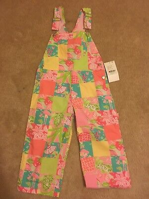 NWT Lilly Pulitzer 5T Girls Overalls
