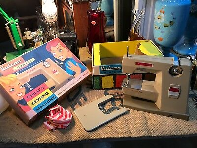Vintage English Vulcan Countess Child's Sewing Machine in Original Box