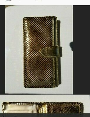 Whiting & Davis Gold Mesh Wallet With Card Slots