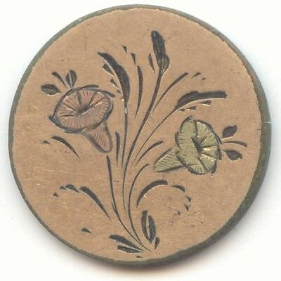 Love Token, Pink and Green Engraved Flowers, 2 Sided, Copper Nickel Indian Cent