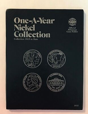 One- A -Year Nickel Collection  #9102 Coin Folder By Whitman - New Old Stock