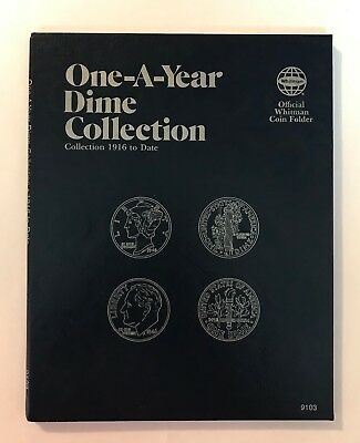 One- A -Year Dime Collection  #9103 Coin Folder By Whitman - New Old Stock