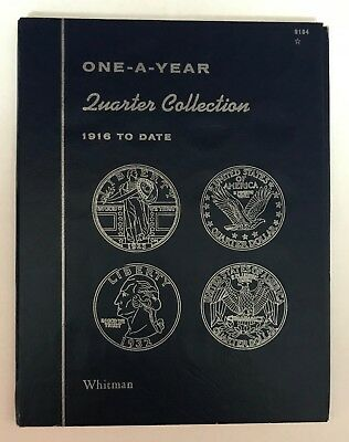 One- A -Year Quarter Collection  #9104 Coin Folder By Whitman - New Old Stock