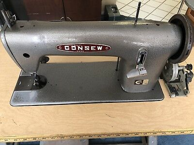 CONSEW 118 WALKING FOOT LEATHER UPHOLSTERY INDUSTRIAL SEWING MACHINE w Reverse