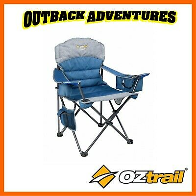 OZTRAIL MONARCH ARM CHAIR with footrest - GREEN RECLINE BEACH CAMP CAMPING SEAT