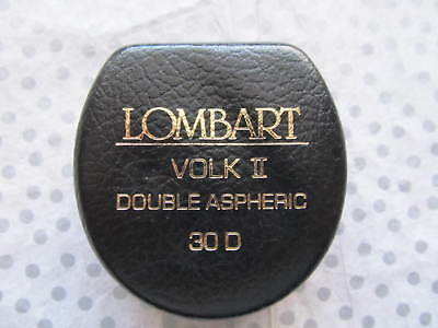 Lombart Volk II Double Aspheric 30D Optometry Lens - Clear