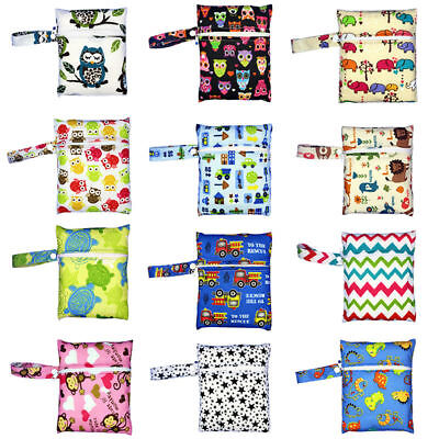 Protable Baby Reusable Washable Wet Dry Cloth Zipper Waterproof Diaper Nappy Bag