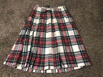 Vintage Pleated Wool Skirt Kilt The Wool Shop Wellesley Osterville Scotland