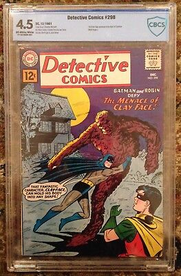 Detective Comics 298, first SA Clayface, CBCS graded 4.5 (off white/white), Nice