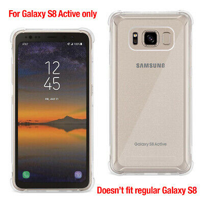 Samsung Galaxy S8 Active Ultra Slim Clear Back TPU Case with Air Cushion Corner