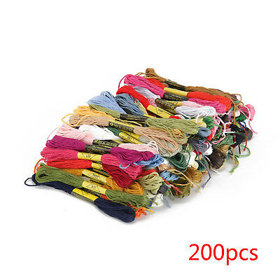 200PC Spiraea New Cross Stitch Stranded Cotton Embroidery Thread Floss Whloesale