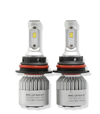 2X 9004 HB1 80W 8000LM LED Headlight Kit 6500K Bulb High Power High-Low Beam Car