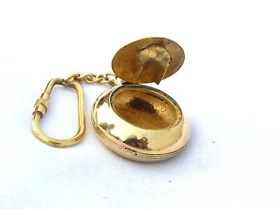 Vintage Brass Antique Ashtray Key Chain Key Ring Collectible Anchor Key Chain