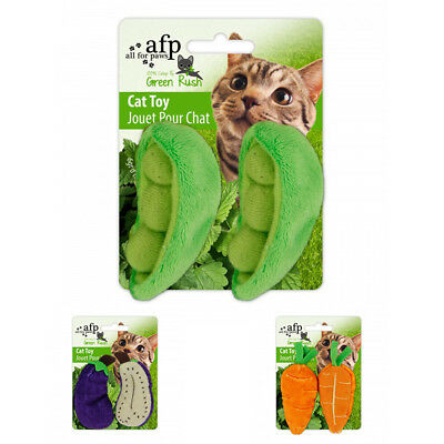 Brand New AFP Natural Instincts Vegetables Cat Toys with Catnip Send Random 2093