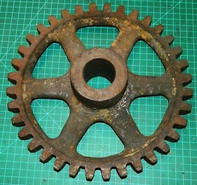 "#17 Vintage Steampunk Cast Iron Gear Wheel Industrial Spokes Monster Teeth 12"" +"