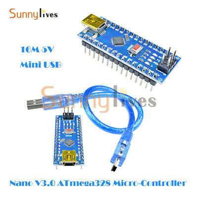 16M 5V Mini USB Nano V3.0 ATmega328 Micro-controller CH340 For Arduino+Cable